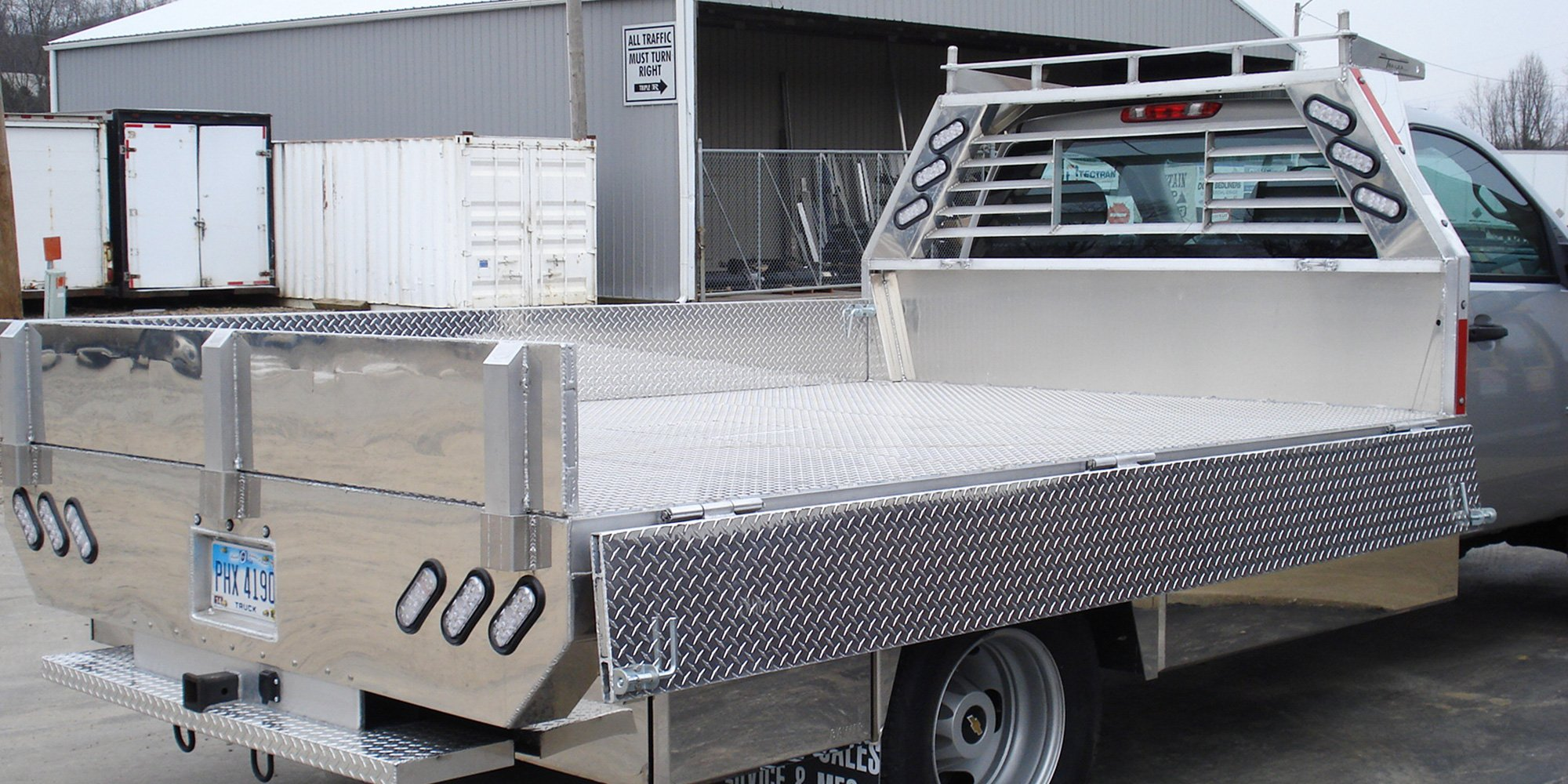 aluminum flatbed with drop sides